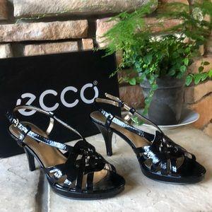 Ecco Strappy Black Heels